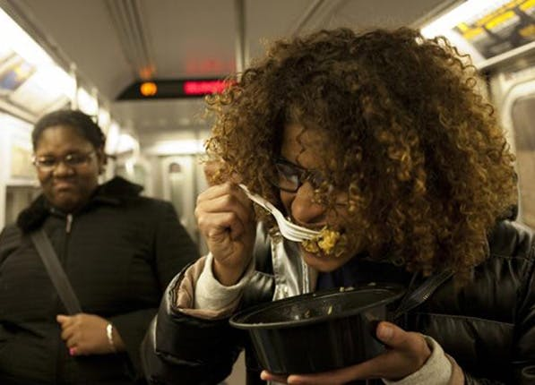 subway eating