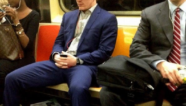 subway manspreading