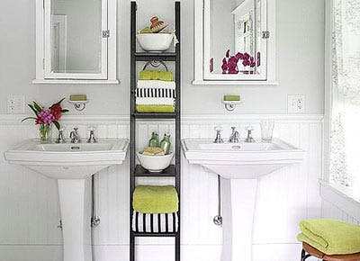 How To Upgrade An Ugly Bathroom Without Spending Much PureWow - Cheap ways to update bathroom