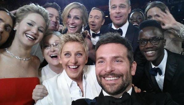 celeb selfie ellen
