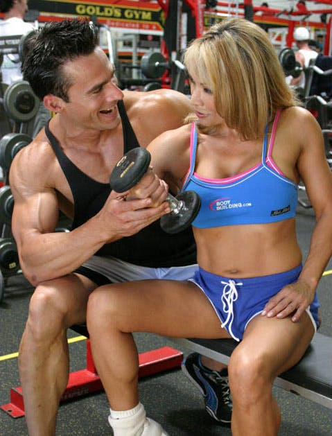gym people couple