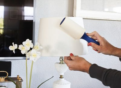 The Secret Way to Speed-Clean a Lampshade