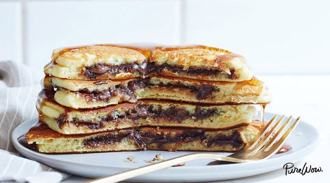 Nutella Stuffed Pancakes Recipe - PureWow