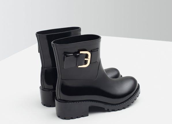 rain zara booties