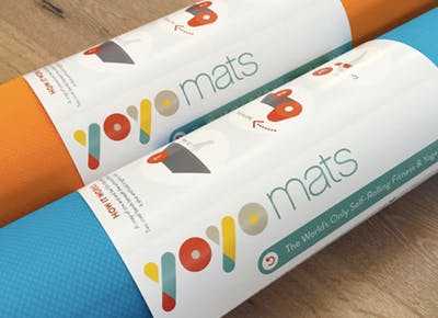 This Self-Rolling Yoga Mat Is Actually a Giant Slap Bracelet