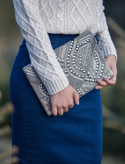 ModCloth Embellished Clutch