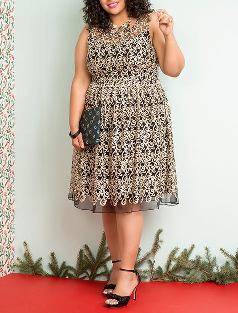 ModCloth High Waisted Dress