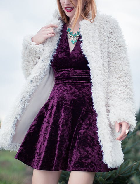 ModCloth Shaggy Coat