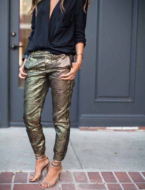 pants brocade