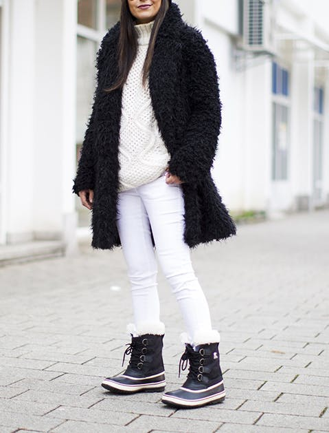 White Jeans Snow Boots