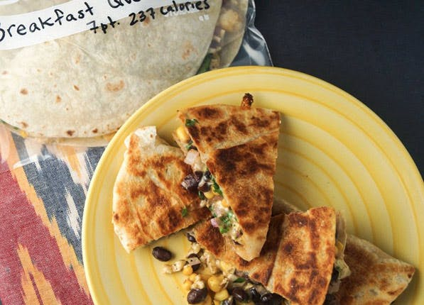 freezer breakfast quesadilla