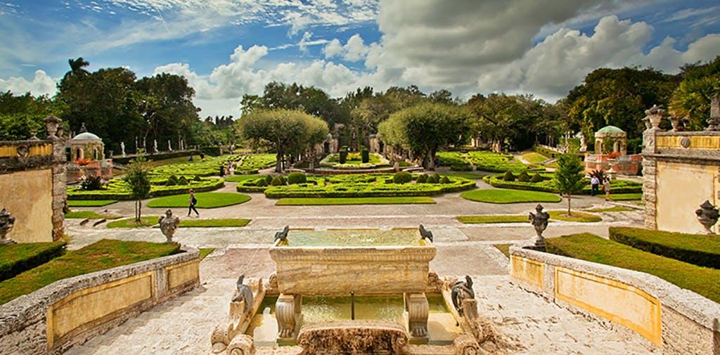 5 Vizcaya Museum and Gardens Main Garden LS