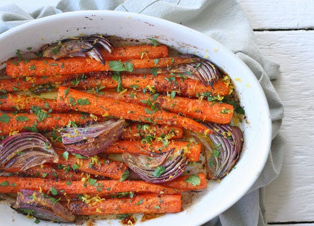 cooked carrots
