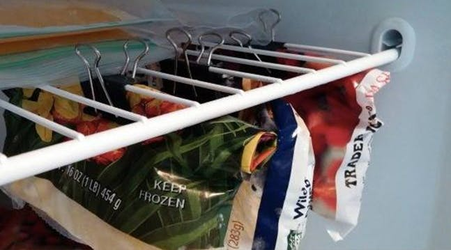 A Clever Way to Double Your Freezer Space