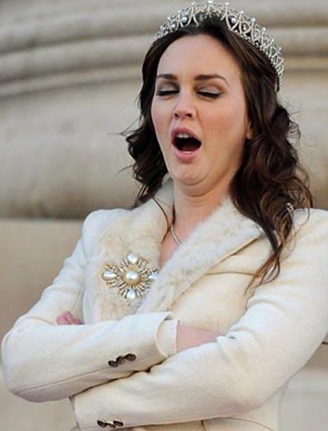 leighton yawning