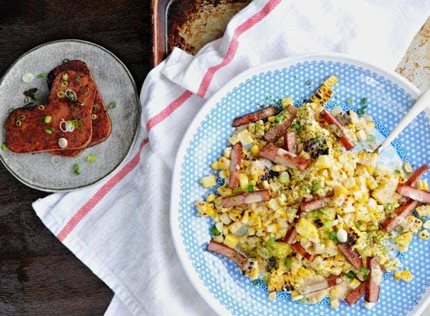 spam recipes corn