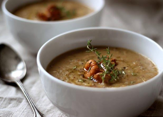blender mushroom soup