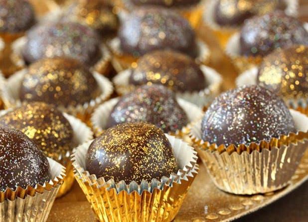 glitter truffles