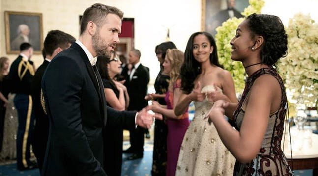 Adorable Alert: Malia Obama Catches Sasha Being a Total Dork Around Ryan Reynolds