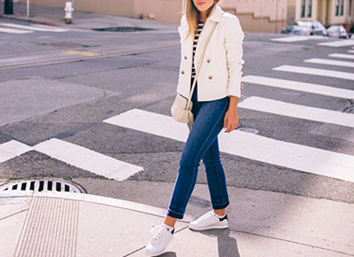 How To Style White Sneakers Fashionable White Sneaker Outfits