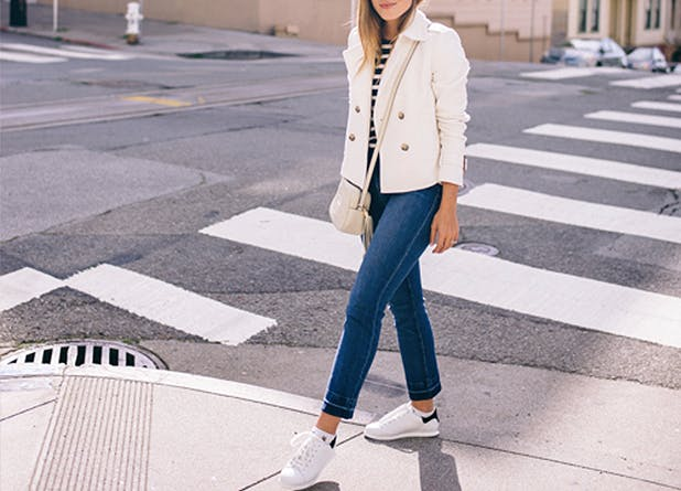 How To Wear White Sneakers White Sneaker Outfits Purewow