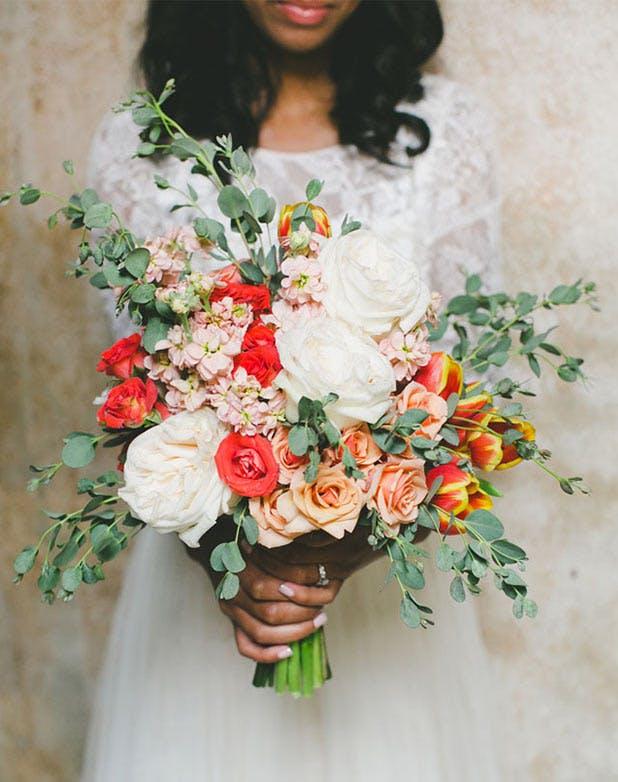 WeddingFlowersCoral