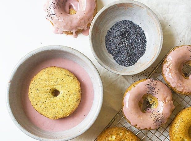 doughnuts rhubarb