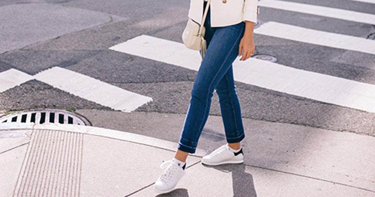 cb56339985 How to Wear White Sneakers | White Sneaker Outfits - PureWow