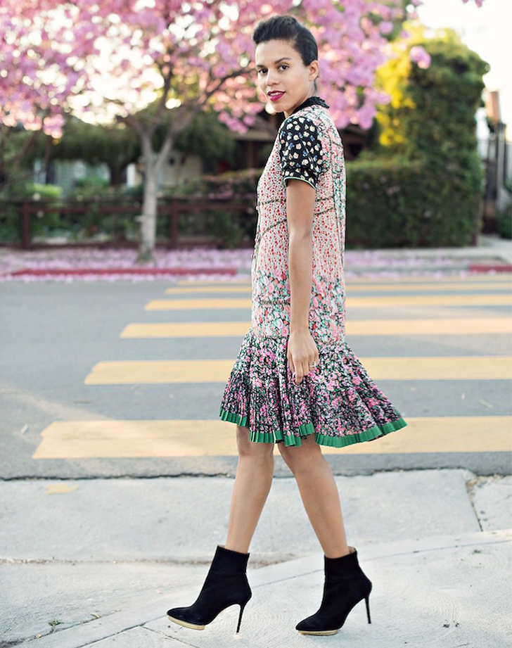 wedding guest dress with booties