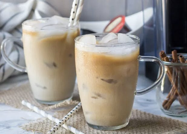 iced coffee coconut horchata