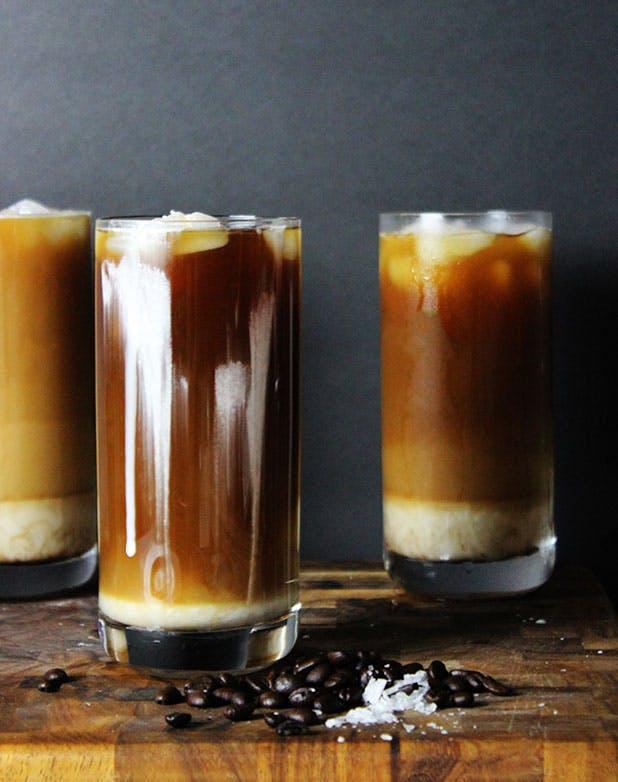 iced coffee sea salt