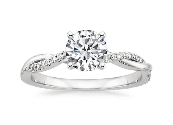 10 engagement ring trends in 2016 purewow intertwining bands junglespirit Image collections