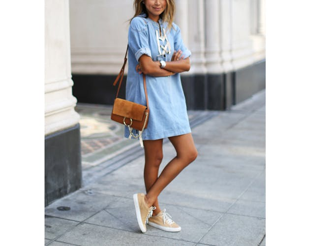 How To Wear A Dress With Sneakers 13 Looks To Try Purewow