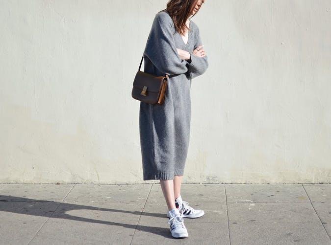 sneakers sweater