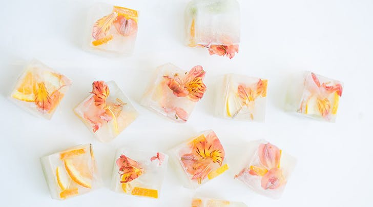 Holy Moly! Sweet Floral Ice Cubes!