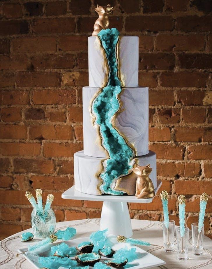 13 Geode Wedding Cake Ideas That Are Stunning Purewow