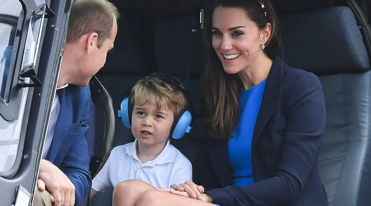 Prince George Is the Absolute Cutest While Testing Out Helicopters with Mom and Dad
