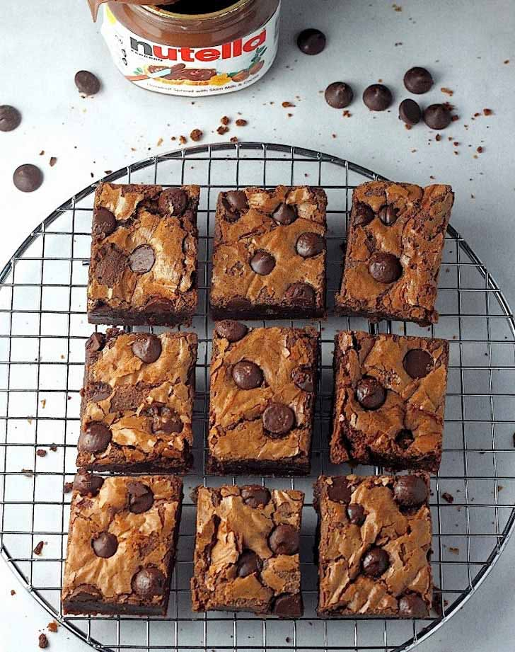 onebowl nutellabrownies