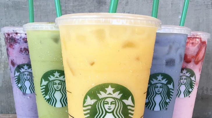 Starbucks Just Released A Full Line of Secret Menu Rainbow Drinks