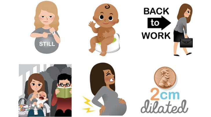 These New Emojis Express the Most Awkward Moments of Motherhood