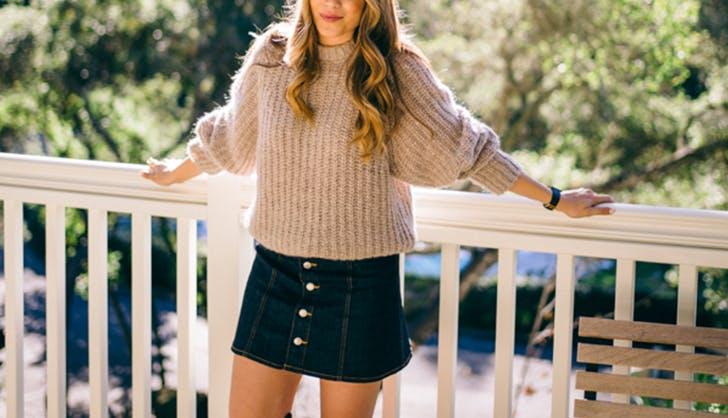 hm button skirt