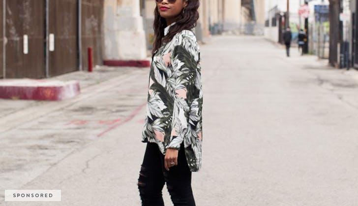 hm spon blouse