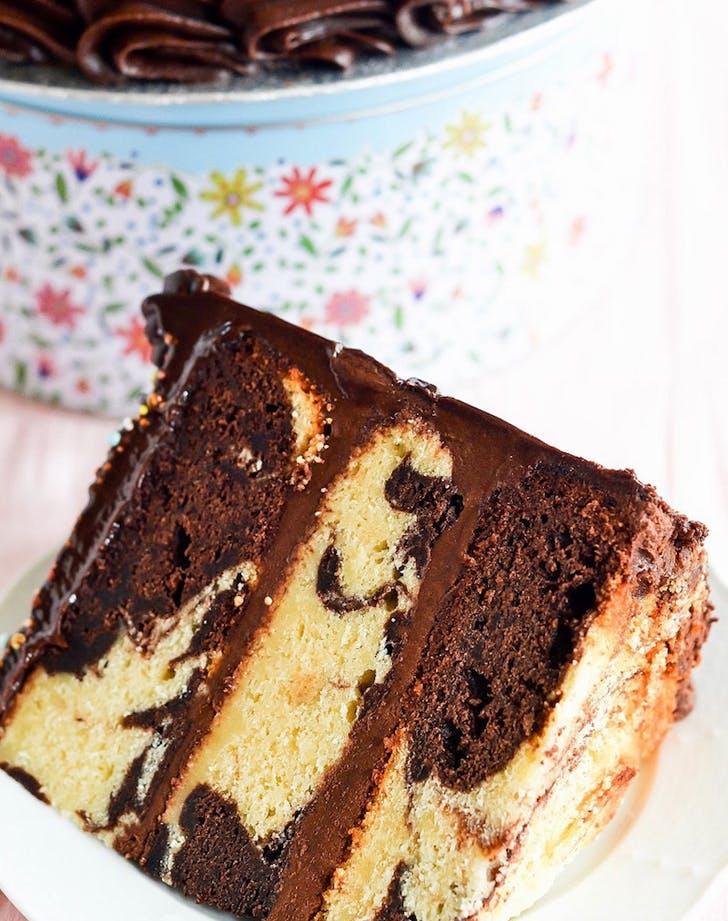 marbled fudgecake