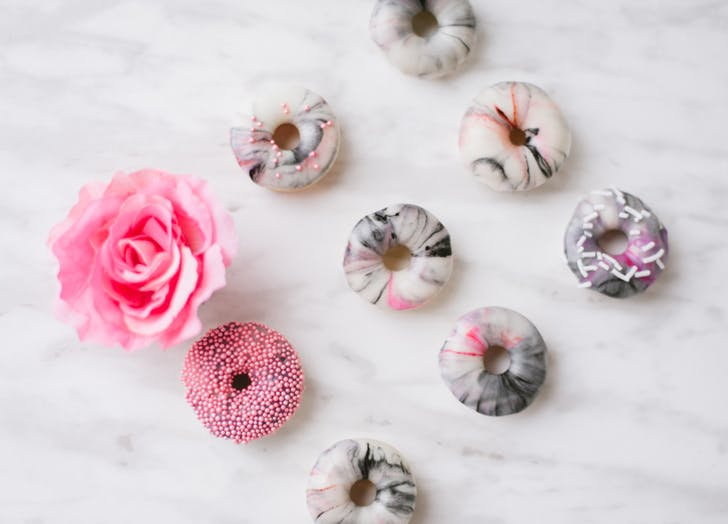 marbled minidoughnuts