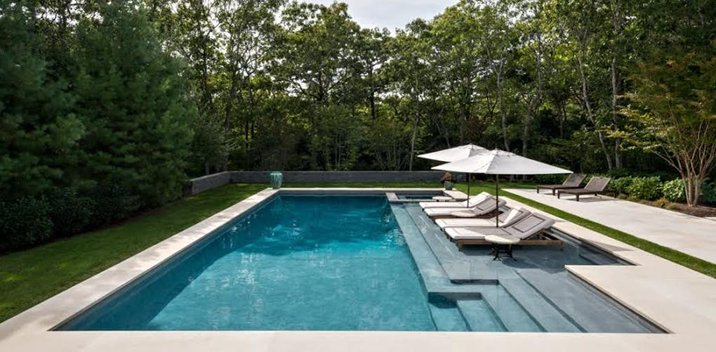 The most outrageous pools in the hamptons purewow for Pool design hamptons