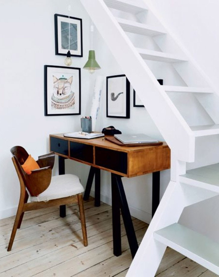 Tiny office Trailer 11 Tiny Office Nooks Thatll Make You Want To Work From Home Purewow 11 Home Office Ideas For Small Space Purewow