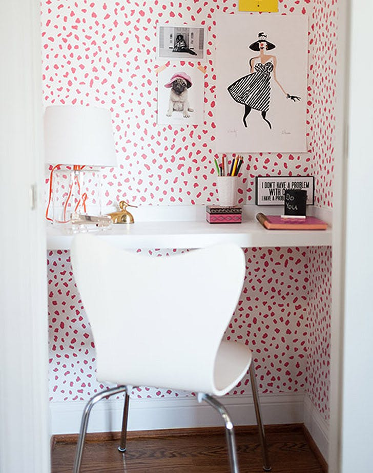 wallpaper closet desk