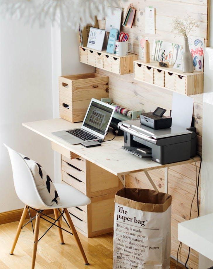 tiny office. Natural Materials Tiny Office I
