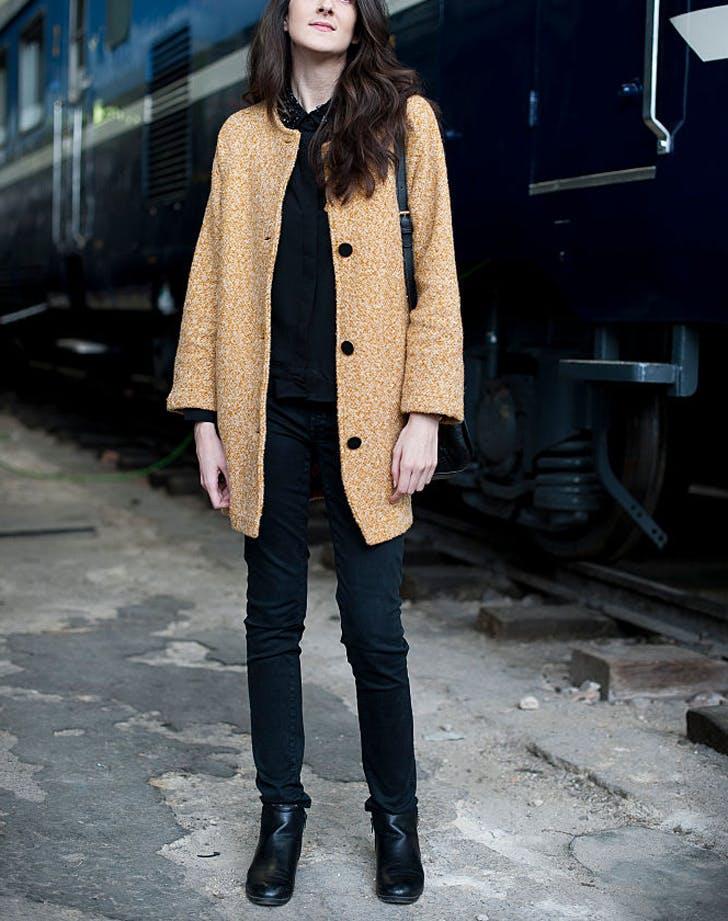 blacktee contrastcoat