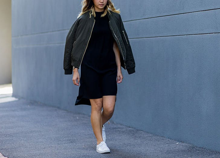 bomber blackdress
